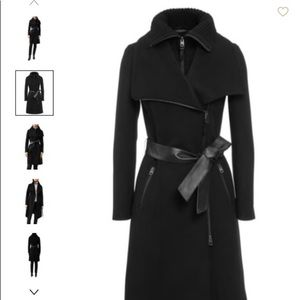 NEW Mackage Nori Double Collar Wool Blend Coat XS